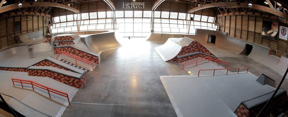 Présentation des rampes du Skatepark Gerland à Lyon